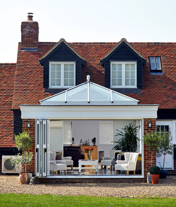 Orangery extension with roof lantern