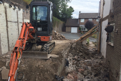 demolishing a semi detached house