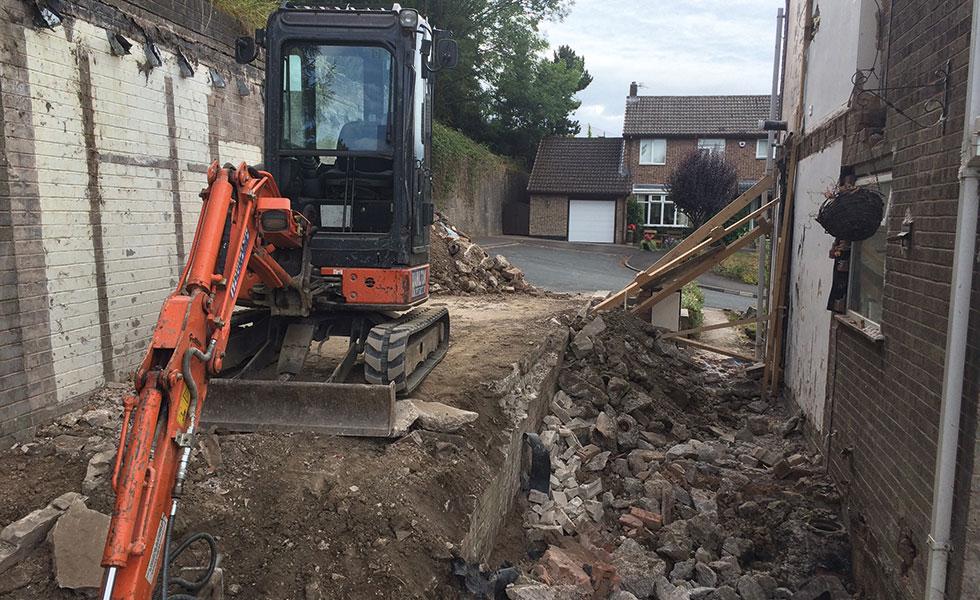 demolishing a semi detached house