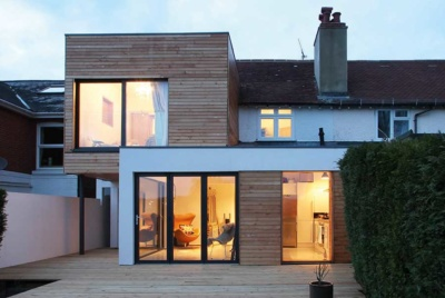 This two storey extension project was designed by Adam Knibb Architects