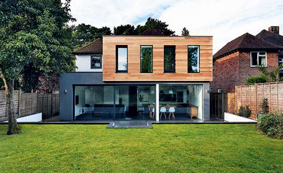 This two storey box extension has transformed the rear of this period home