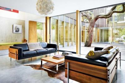 polished concrete flooring home design trend