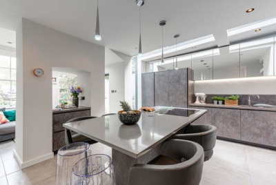 Contemporary kitchen diner extension