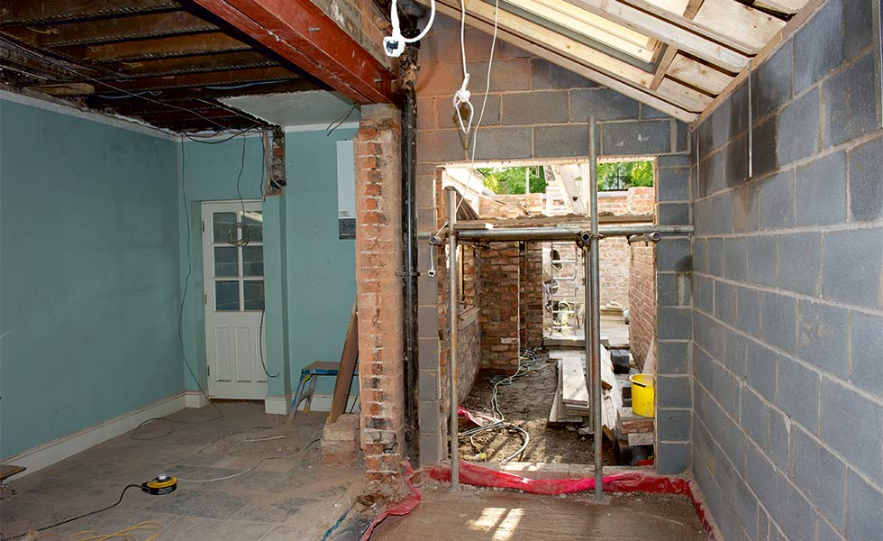 Removal of internal wall in kitchen extension