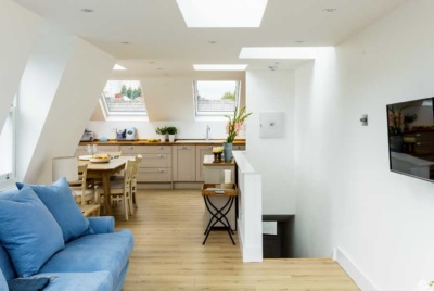 Loft extension featuring new contemporary living space