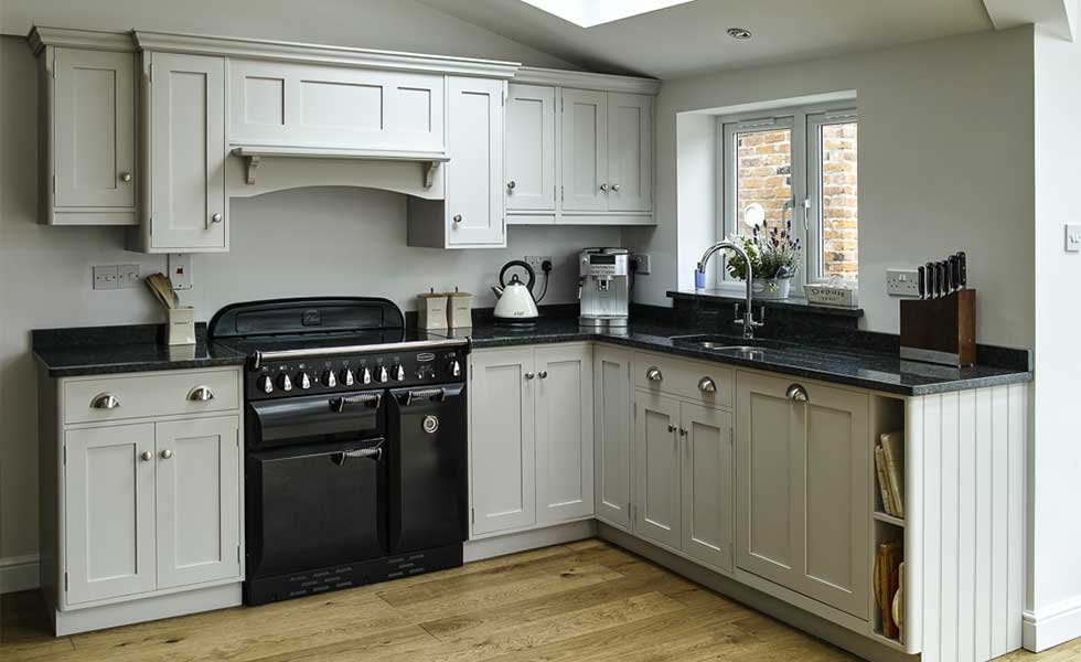Unpainted timber kitchen