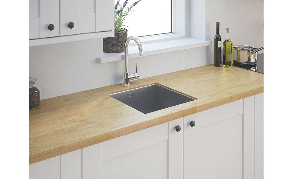 Stainless steel sink from Screwfix