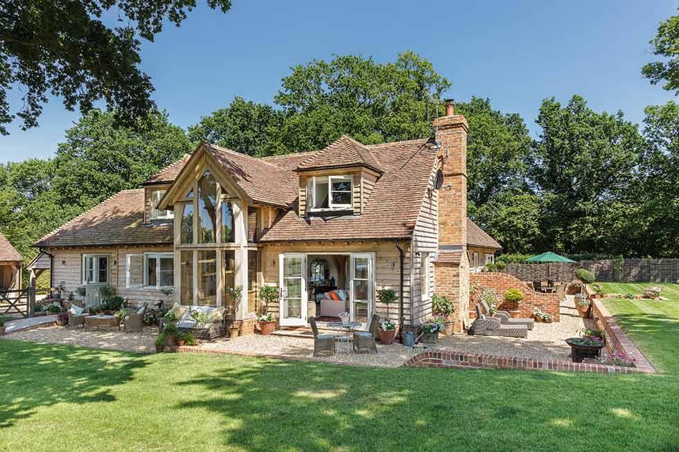 oak frame self build home on greenbelt plot