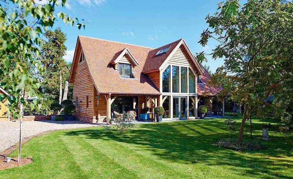 timber frame forever home front elevation