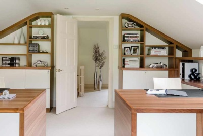 home office design from Neville Johnson in a loft conversion