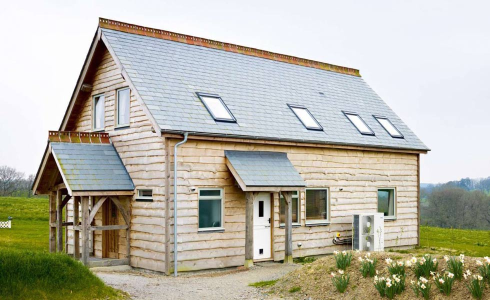 Timber clad farmhouse in Devon