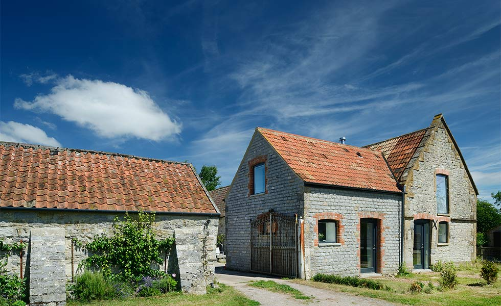 Stone barn conversion clay roof