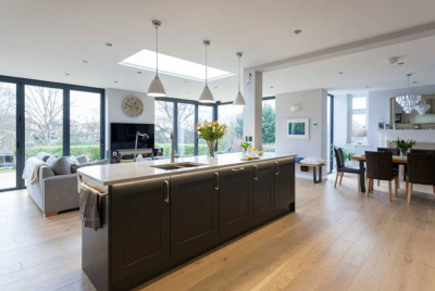 open-plan kitchen extension