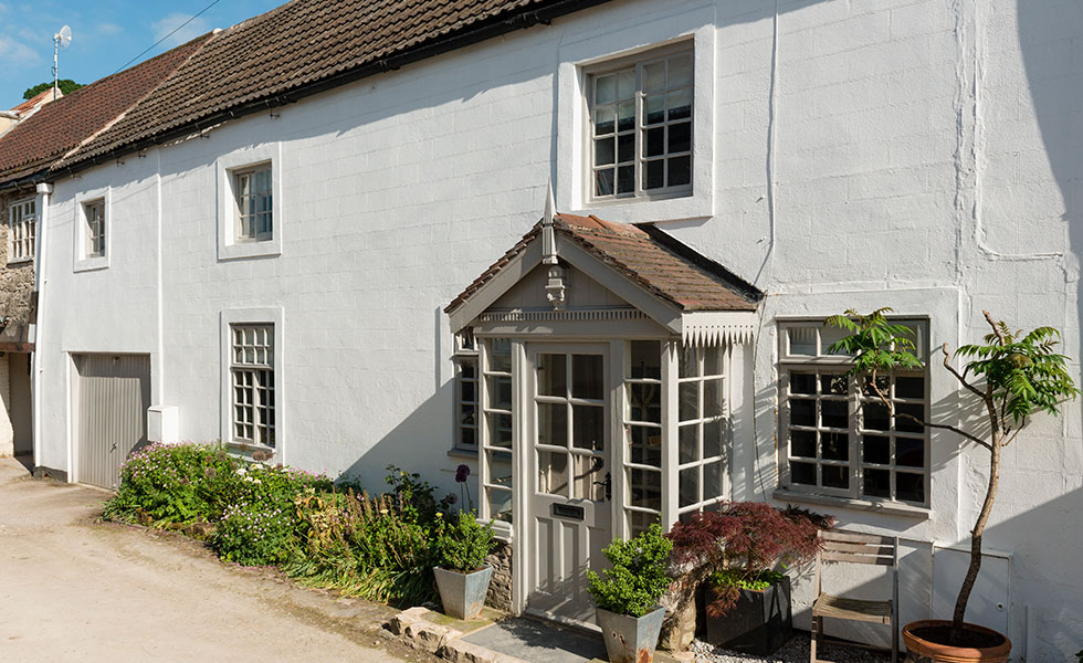yorkshire cottage with traditional sash windows