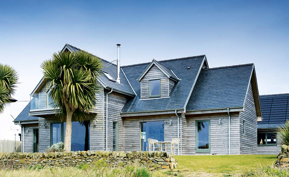 Coastal home with timber cladding