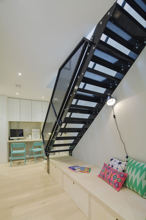 interior staircase down to basement level