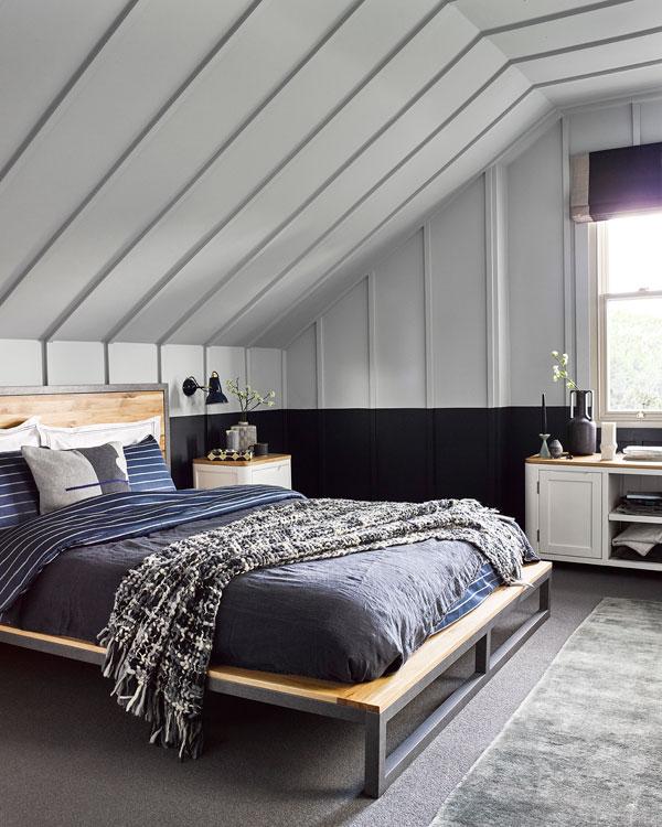 loft bedroom with bed from oak furnitureland