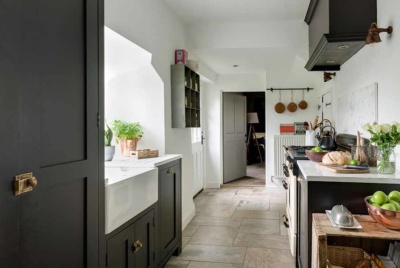 characterful kitchen in renovated cottage