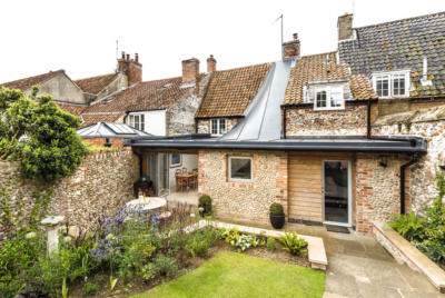 Flint and brick renovation and extension