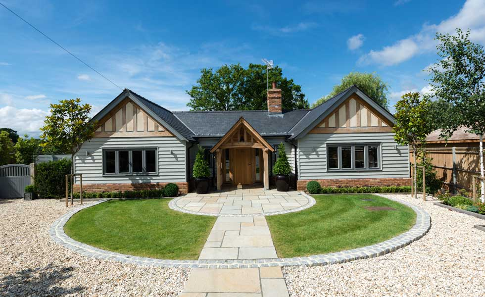 single storey oak frame home