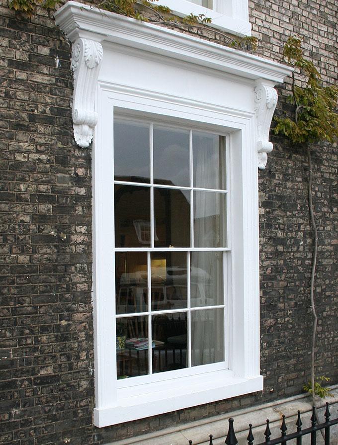 sash window exterior timber