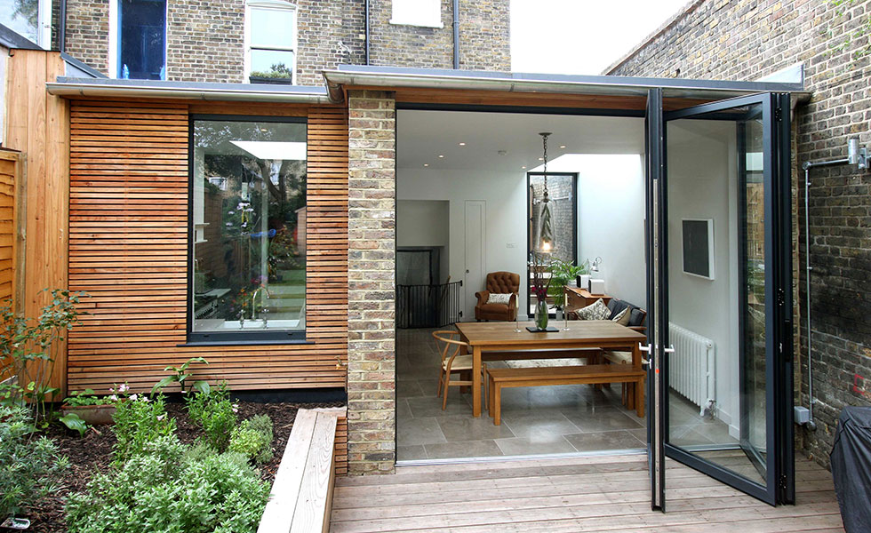 contemporary extension with glazing