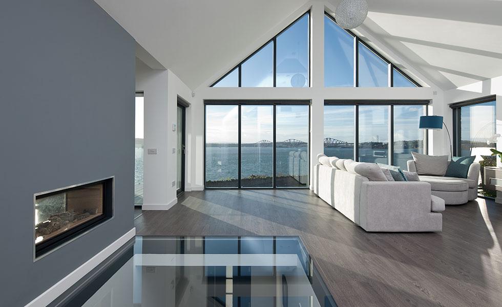 aluminium windows in contemporary home