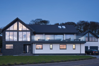 contemporary coastal self build home
