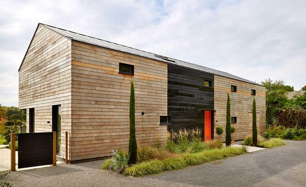 contemporary timber frame self build home
