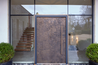 bronze front door external