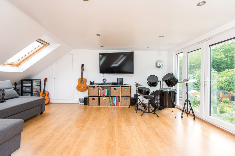 Music room or games room is a great idea for a loft conversion