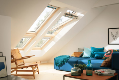 Maximise natural light in a loft living area with rooflights