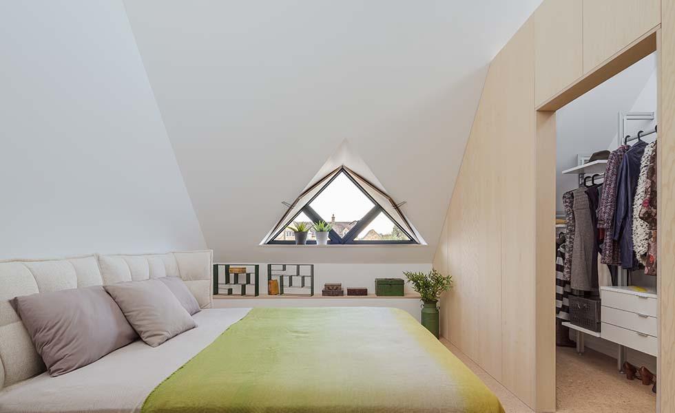 bedroom in dormer loft conversion
