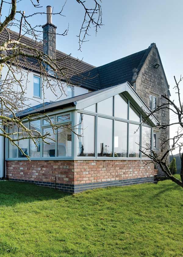 Cottage extension exterior elevation