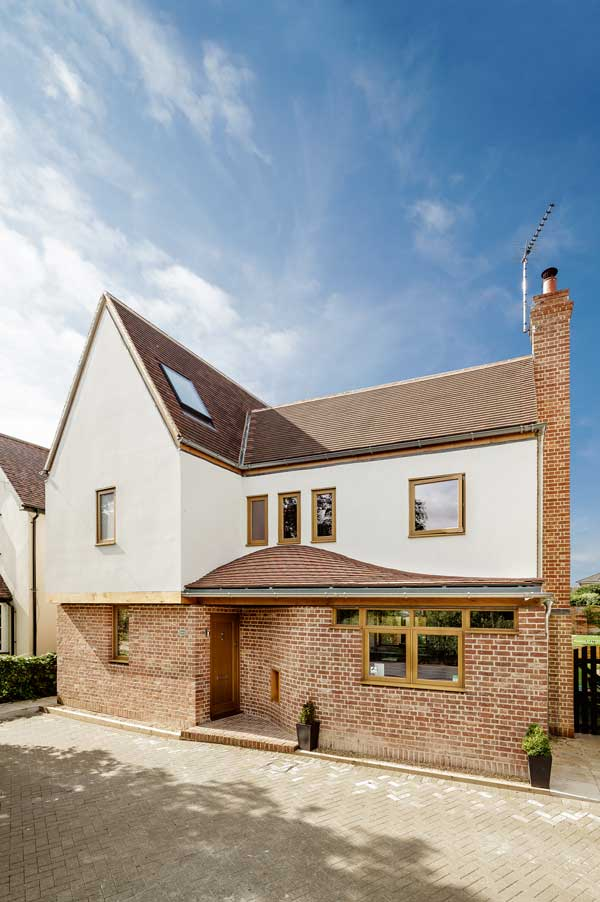 from elevation of this traditional style self build