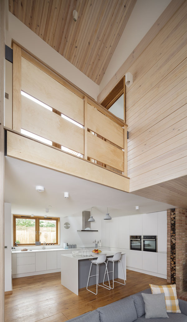galleried landing over kitchen