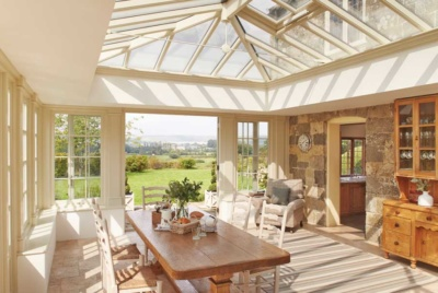 south facing sunroom to maximise sunlight hours