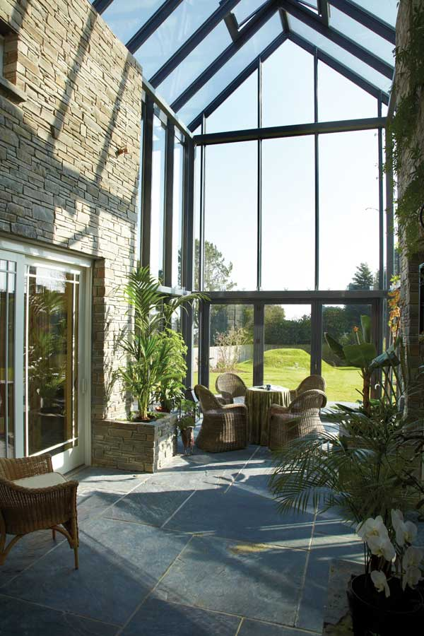 double height sunroom to make the most of light and views