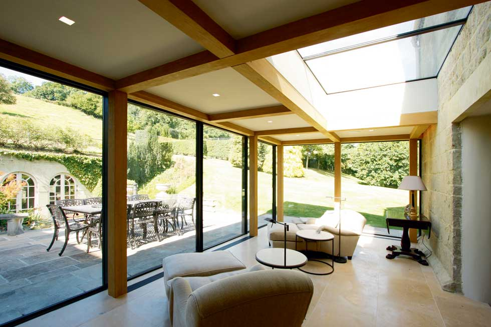 flush rooflight on sunroom