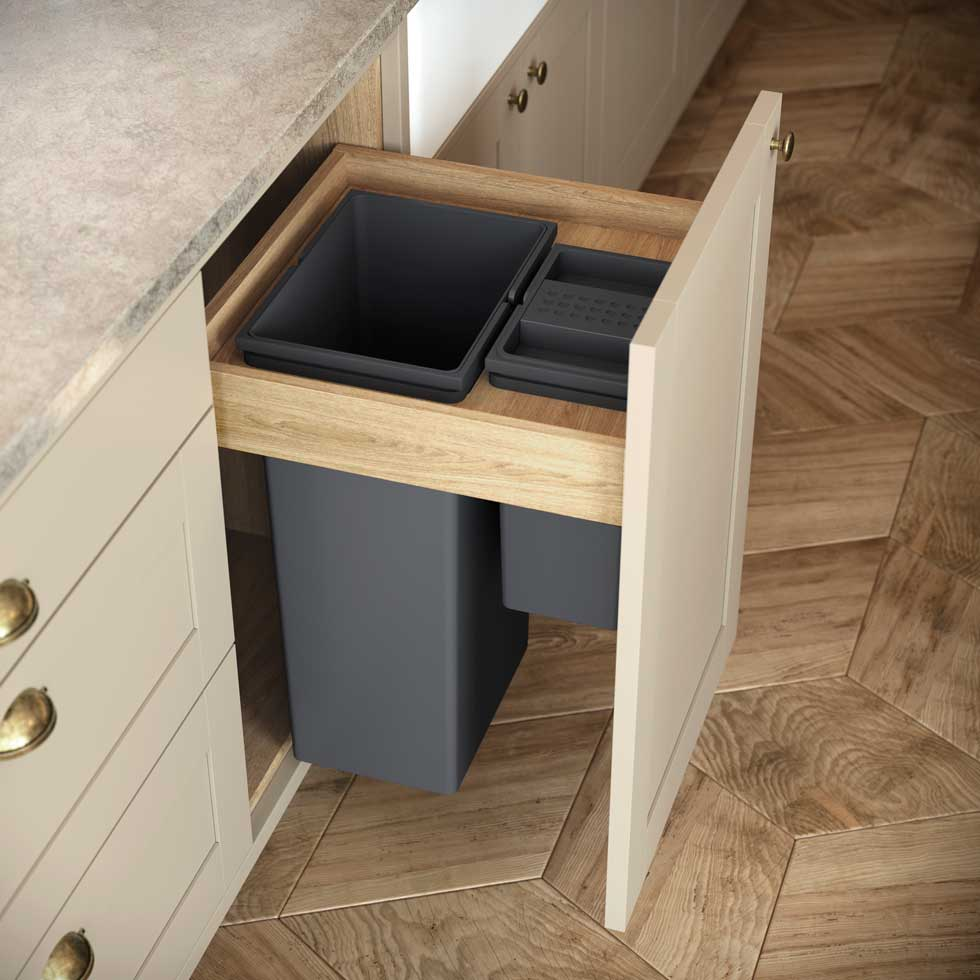 Choose an integrated bin to hide it from view