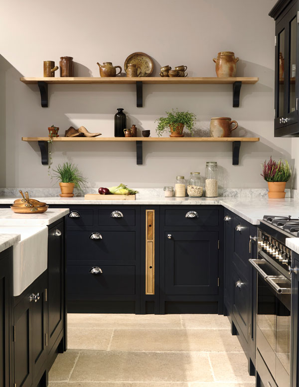 Consider cupboard options with built in storage for items such as chopping boards