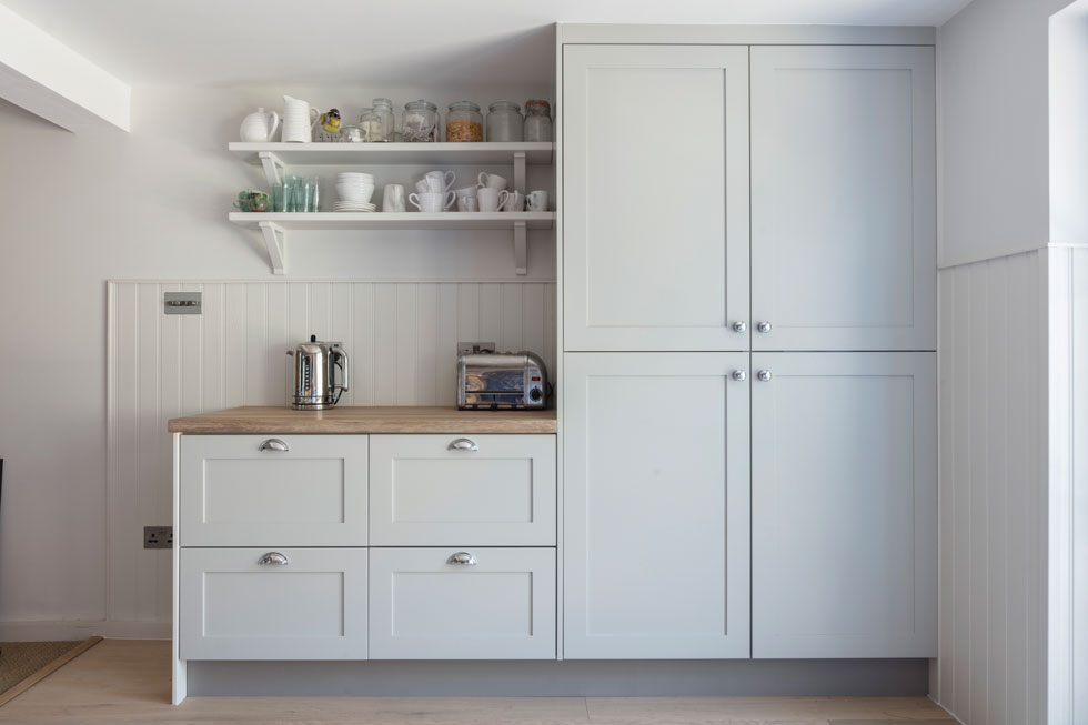 Choose floor-to-ceiling kitchen units to make the most of your vertical space