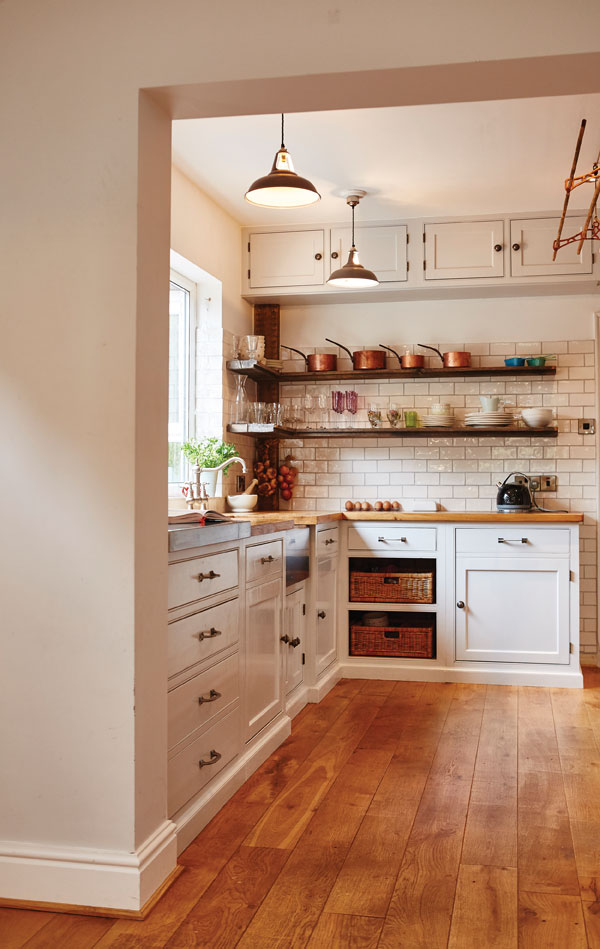If space is at a premium, utilise every bit of space in your kitchen to maximise storage potential
