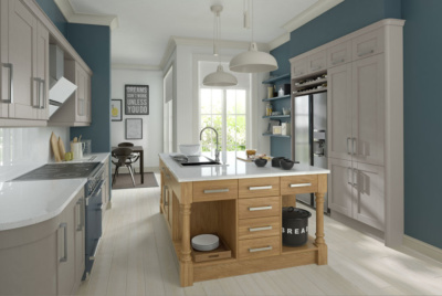 Painted and oak kitchen