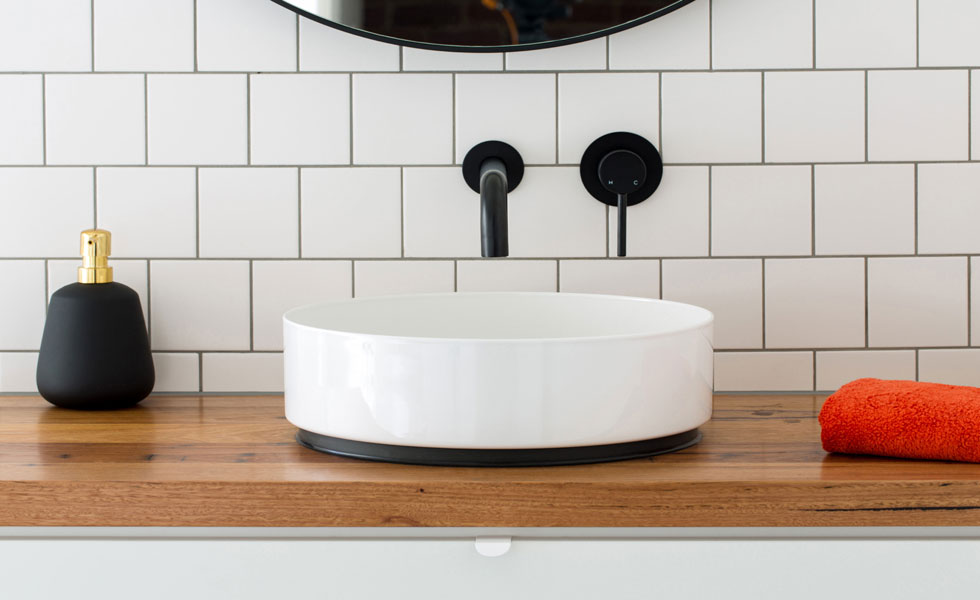 Contemporary bowl basin