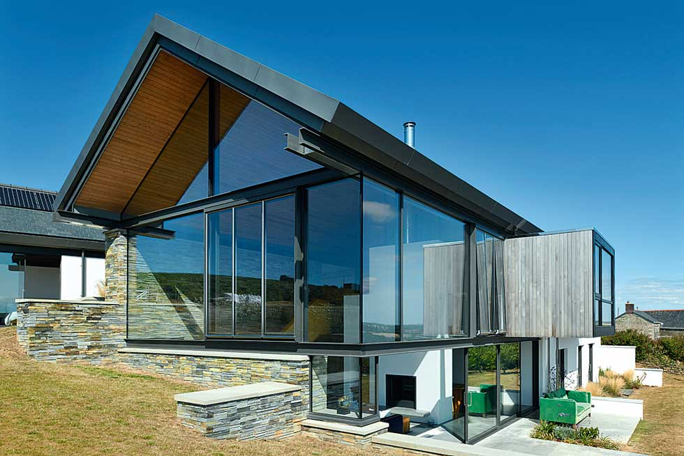 Cantilevered box extension creates a contemporary look
