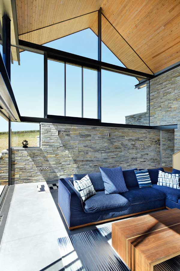 The interiors are flooded with natural light and make the most of the incredible location