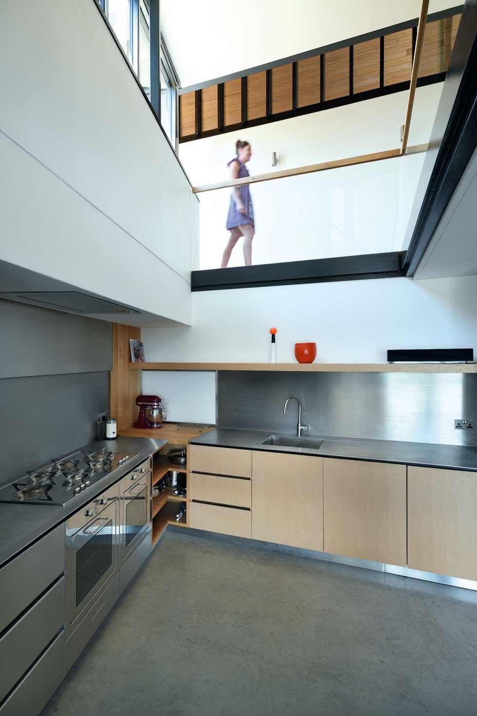 Contemporary kitchen in this Cornish coastal home