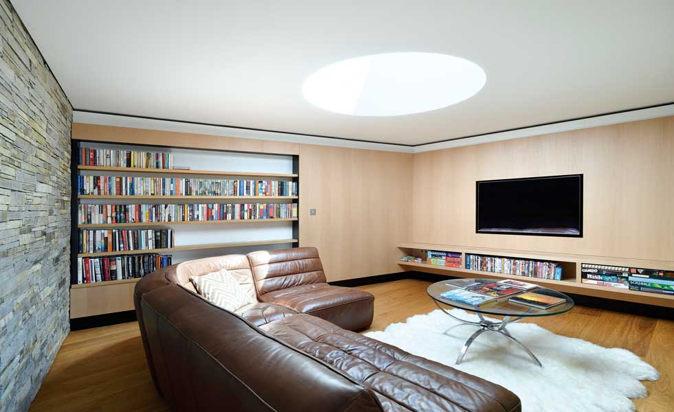 wall mounted TV in sitting room