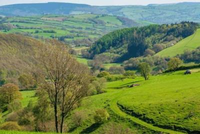 Landscape near Mainstone, Shropshire, England, UK